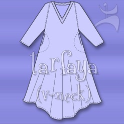TARFAYA V-NECK EVERYWEAR DRESS