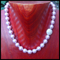 contemporary asymmetrical lavender pearl necklace
